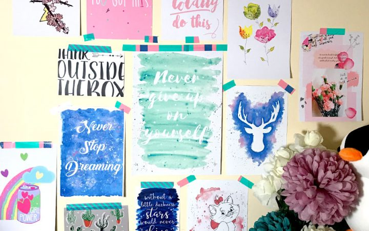Art Prints on a Wall from Small Businesses