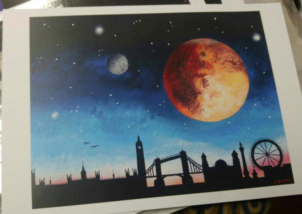 Mars over London Print by AlienArtestries
